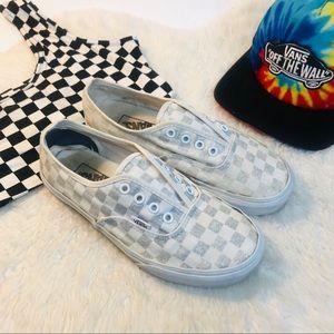 VANS Glitter Oldschool Checker Slip-On Skate Shoe